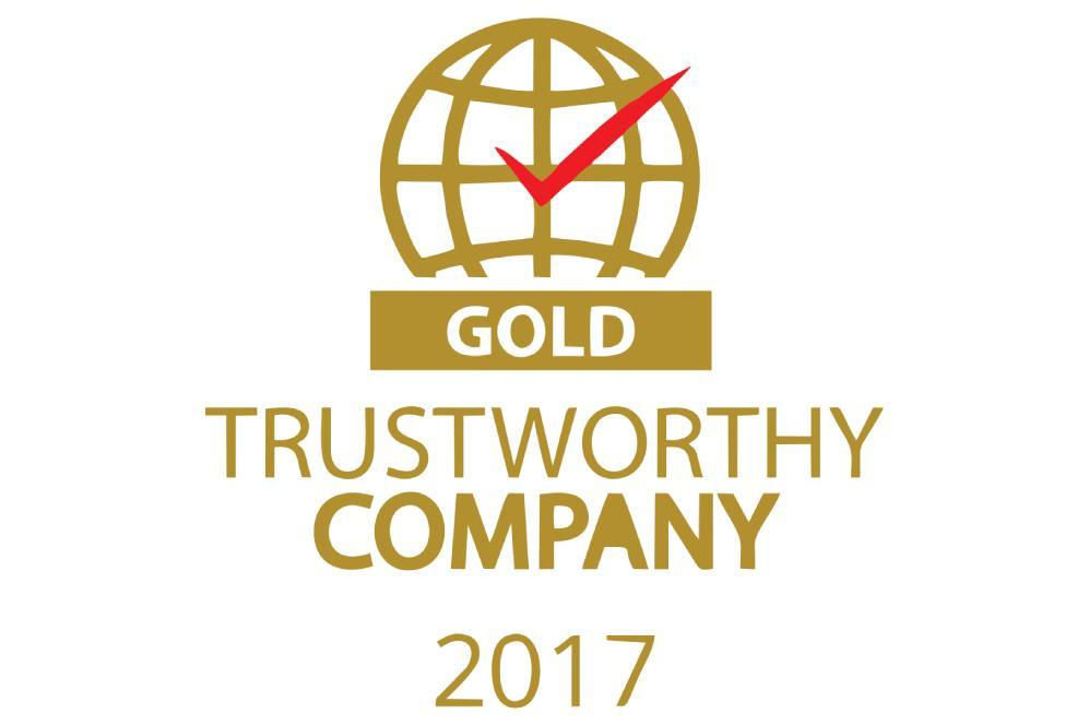 Gold trustworthy company 2017